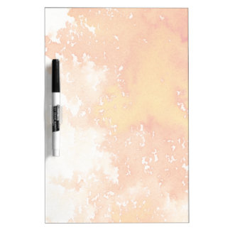 Abstract hand painted watercolor background. 2 dry erase whiteboard