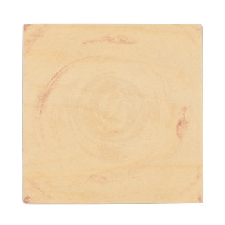 Abstract hand painted watercolor background. 2 wood coaster
