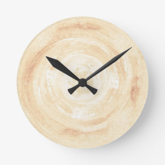Abstract hand painted watercolor background. round clock