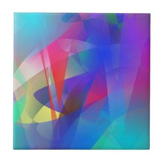 Abstract Hard Edge Small Square Tile