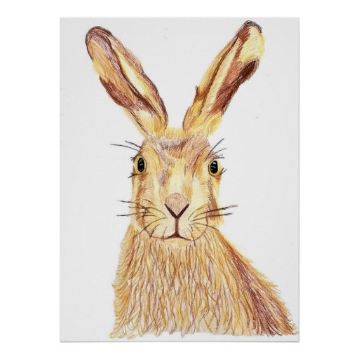 Abstract Hare poster
