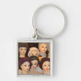 Abstract hats key chain
