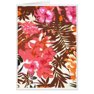 Abstract Hawaiian Pattern Card