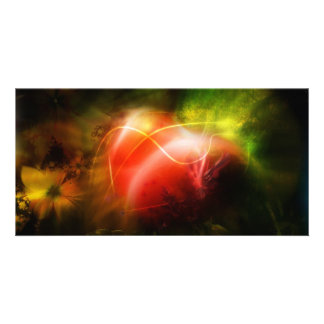 Abstract Heart Art Design Photo Cards