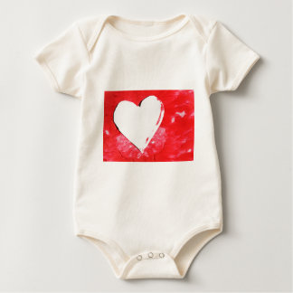 Abstract heart baby bodysuit