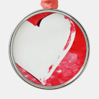 Abstract heart christmas ornament
