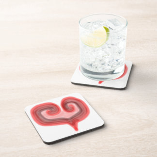 Abstract Heart Coaster Set