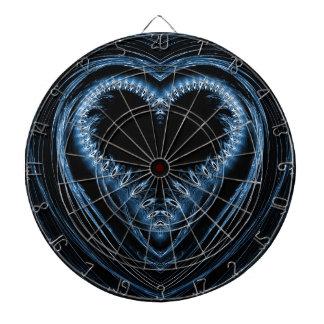 abstract heart dartboard