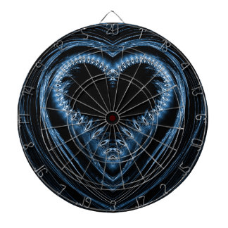 abstract heart dartboards