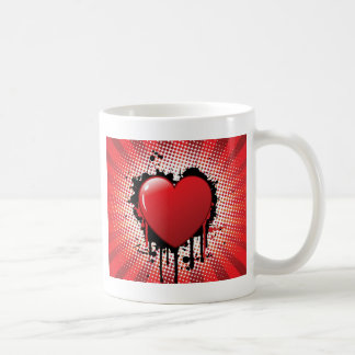 Abstract Heart Design Coffee Mug