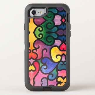 Abstract Heart Design OtterBox Defender iPhone 8/7 Case
