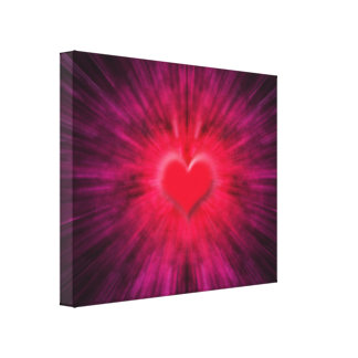 Abstract Heart Design Wrapped Canvas Print
