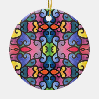 Abstract Heart Painting Christmas Ornament