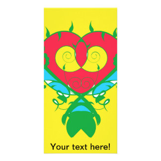 Abstract heart photo greeting card