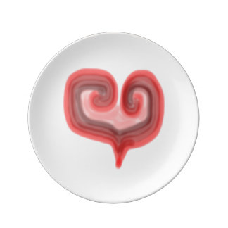 Abstract Heart Small Porcelain Plate