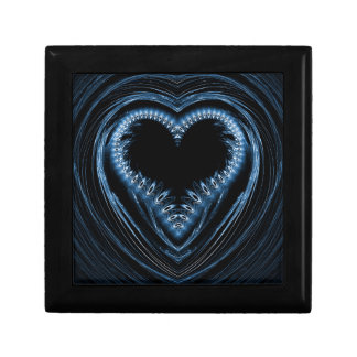 abstract heart small square gift box