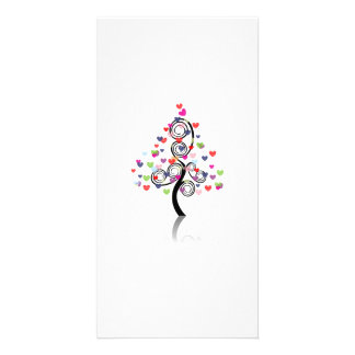 Abstract Heart Tree Photo Card Template