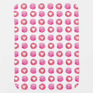 Abstract Hearts Baby Blanket