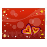 Abstract Hearts Card