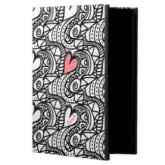 Abstract Hearts Doodle Art Custom iPad Air 2 Case