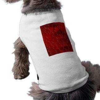 Abstract Hearts III Sleeveless Dog Shirt