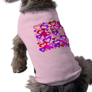 Abstract Hearts Sleeveless Dog Shirt