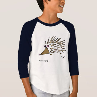 Abstract Hedgehog Kids Raglan T-Shirt