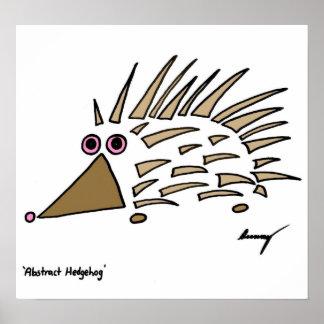 Abstract Hedgehog Print