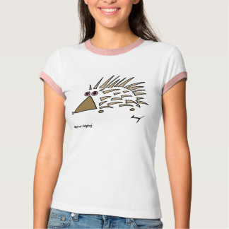 Abstract Hedgehog Womens Dark Ringer T-Shirt