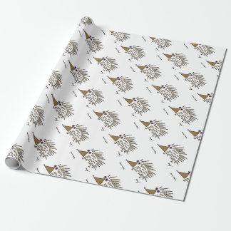 Abstract Hedgehog Wrapping Paper