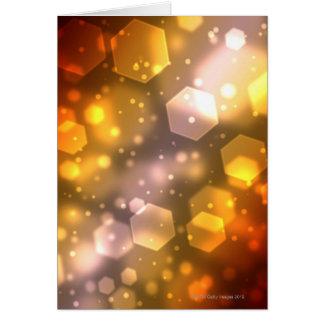 Abstract Hexagon Greeting Card
