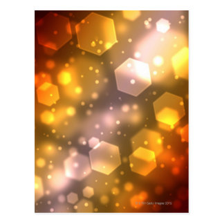 Abstract Hexagon Postcard