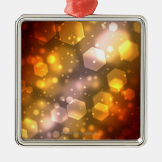 Abstract Hexagon Silver-Colored Square Decoration