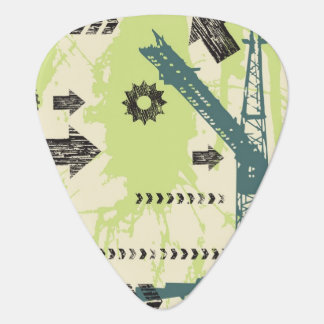 Abstract hi-tech background guitar pick