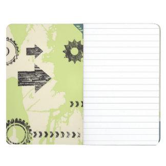 Abstract hi-tech background journals