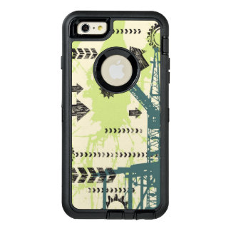 Abstract hi-tech background OtterBox defender iPhone case