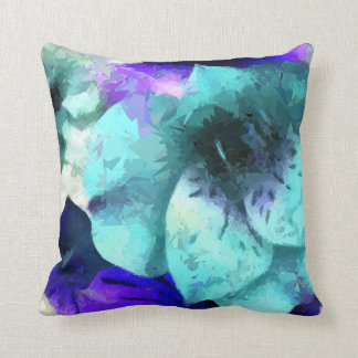 Abstract Hibiscus Floral Throw Pillows