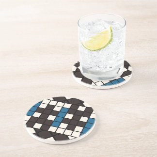Abstract hidden man art coaster