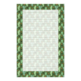 Abstract Hipster Cactus  Desert Pattern Stationery
