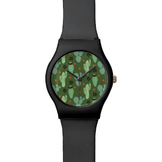 Abstract Hipster Cactus  Desert Pattern Watch