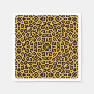 Abstract Hipster Cheetah Animal Print Paper Serviettes