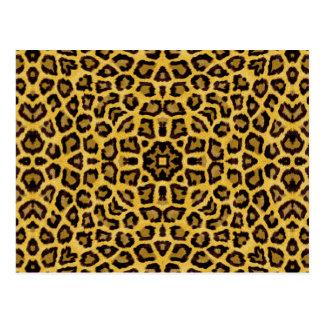 Abstract Hipster Cheetah Animal Print Postcards