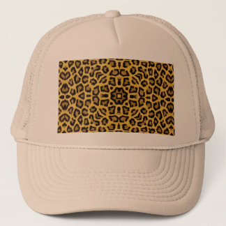 Abstract Hipster Cheetah Animal Print Trucker Hat