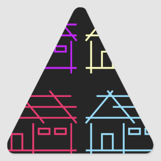 Abstract home for real estate or architecture firm triangle sticker