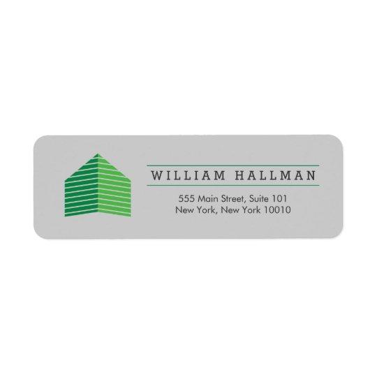 Abstract Home Logo Green/Grey