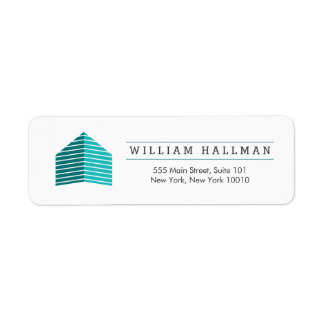 Abstract Home Logo Teal/White