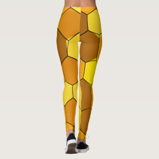 Abstract Honeycomb Leggings