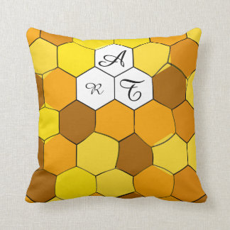 Abstract Honeycomb Personalised Pillow