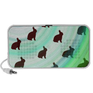 Abstract Hopping Bunnies PC Speakers