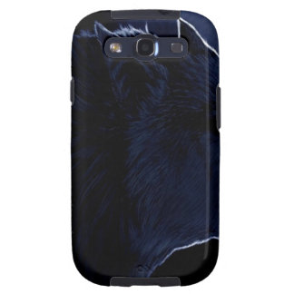 Abstract Horror Dark Wolf Silhouette Samsung Galaxy SIII Cases